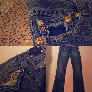 All That Glitters! Sz 29 Miss Me Bootcut Jeans